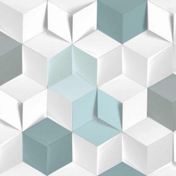 Papier Peint Intisse Hexagone 3d Bleu Cizim Teknikleri Cizim