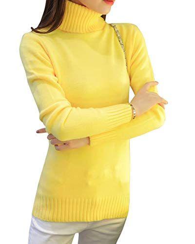 buy popular 5cae1 55218 Rollkragenpullover Damen Strick Pullover Elegante Sweater ...
