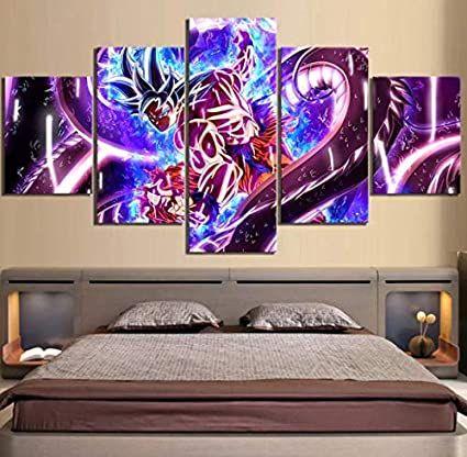 5 Piece Dragon Ball Ultra Instinct Goku Figure Anime Poster Canvas Paintings Wall Ar Dormitorio De Los Ninos Decoracion Para Ninos Cuadros Decorativos Modernos