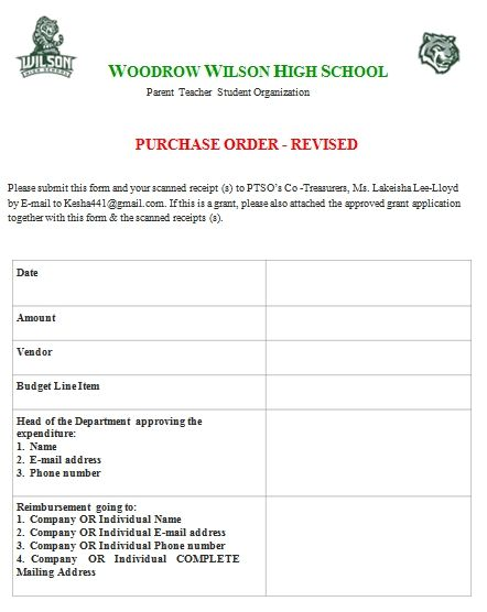 Purchase Order Sample Templates Purchase Order Template Parents As Teachers Purchase Order