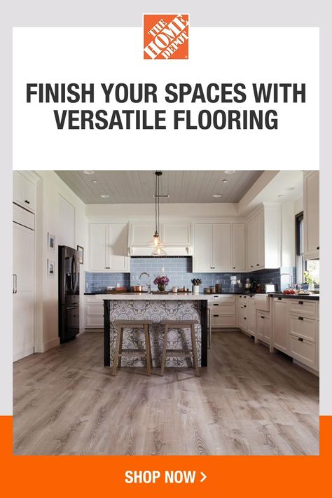 From scratch-resistant vinyl to waterproof tile flooring, The Home Depot has the perfect flooring for your home. And with flexible delivery available, you can start bringing your vision to life faster than ever. Click to shop flooring at The Home Depot.