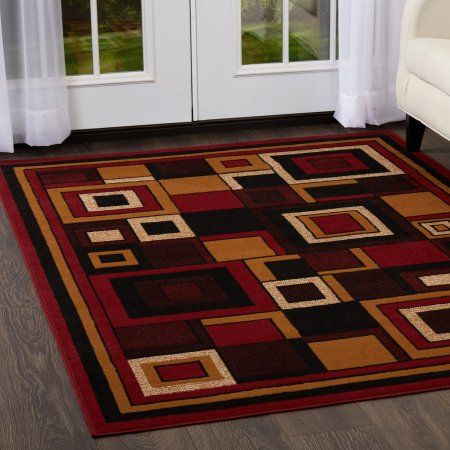 Home Dynamix Premium Collection Geometric Area Rug For Modern Home