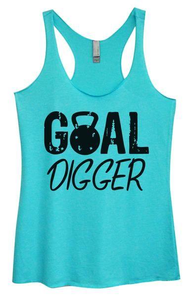 Womens Tri-Blend Tank Top - Goal Digger