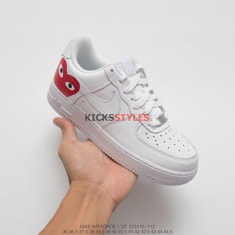 huge discount b77d8 331c0 Comme des Garcons Nike Custom Air Force 1 Low CDG AF1