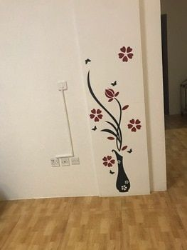 5 Size Colorful Flower Vase 3d Acrylic Decoration Wall Sticker Diy Art Wall Poster Home Decor Bedroom Wallstick Acrylic Decor Home Decor Bedroom Bedroom Decor