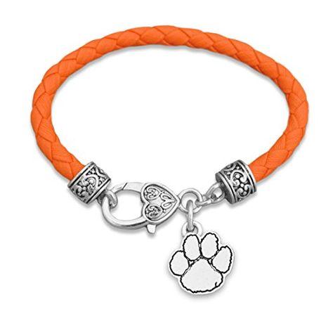 Clemson University Necklace Clemson Tigers Jewelry Stone Armory Clemson Tigers Paw Necklace