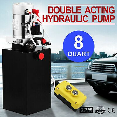 Ebay Advertisement 12 Volt Double Acting Hydraulic Pump For Dump Trailer 8 Quart Power Unit Crane In 2020 With Images Hydraulic Pump Dump Trailers Hydraulic