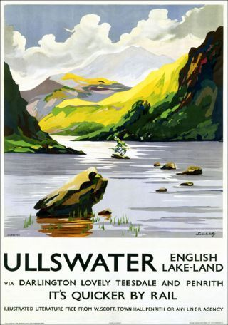 Vintage LMS Ullswater Lake District Railway Poster A4//A3//A2//A1 Print