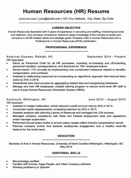 Human Resources Entry Level Resume Luxury Insurance Agent Resume