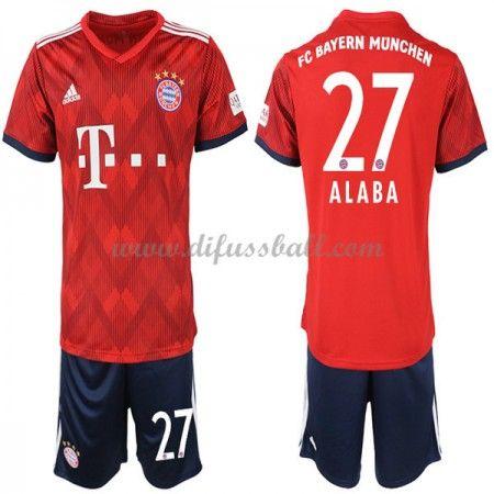 Bayern Munchen Fussballtrikots Kinder 2018 19 David Alaba 27 Heim Trikotsatz Kurzarm Bayern Bayern Munich Bayern Munchen
