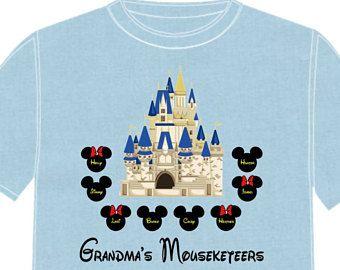 7b8e1a76ab4f2 Disney Shirt GRANDMA'S Disney Vacation Disney Group Shirts Disney ...
