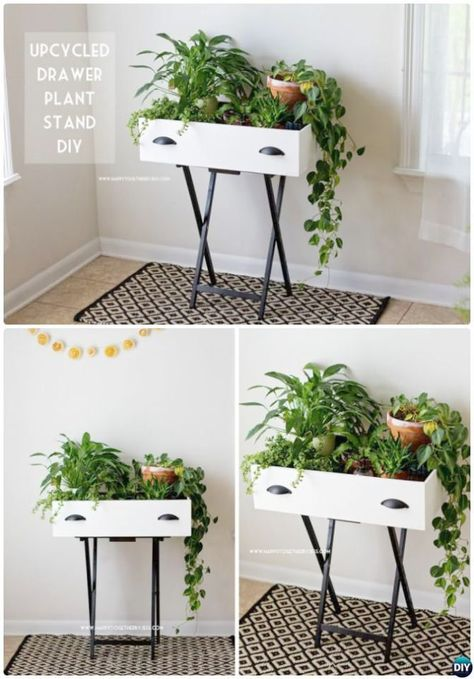 Bush Furniture Key West Collection Diy Planters Diy Upcycled Drawers Diy Plant Stand