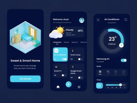 Smart Home Dark Mode App