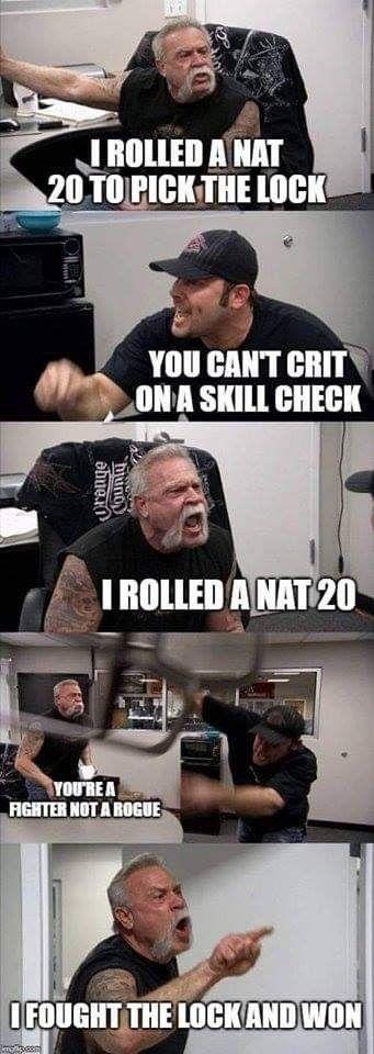 Just A Gigantic Batch Of Dungeons Dragons Memes American Chopper Memes Argument Meme