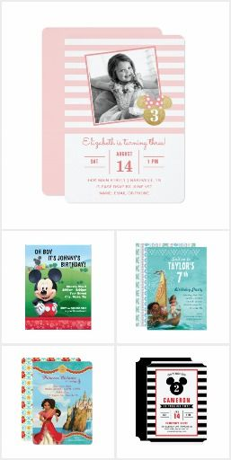 Disney Birthday Party Invitation Collection Throw the ultimate
