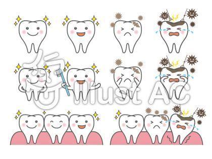 虫歯予防デーのポスターを無料素材でかわいくデザインできる 歯医者さん関連イラストセレクション ころえもんカフェ イラスト 虫歯 イラスト ポスター