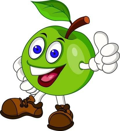 Manzana Verde Personaje De Dibujos Animados Imajenes Para Dibujar Dibujos Dibujos Animados Personajes