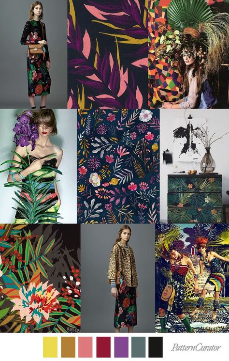 OBSCURE TROPIC - color, print & pattern trend inspiration for Spring / ...