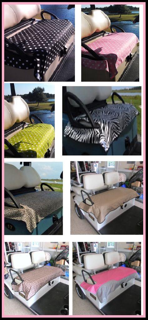 Sitting Pretty on these Golf Cart Seat Blankets! #golfaccessories #lorisgolfshoppe