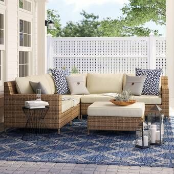 Larsen Patio Sectional With Cushions Gray Patio Furniture Patio Sectional Used Outdoor Furniture