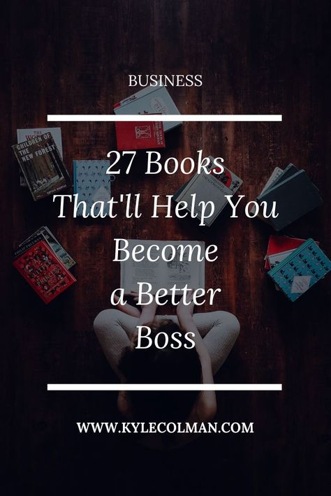 27 books that will make you a better boss