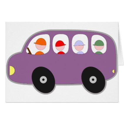 Bus School Bus Kids Students Driver Cartoon Cute Zazzle Com