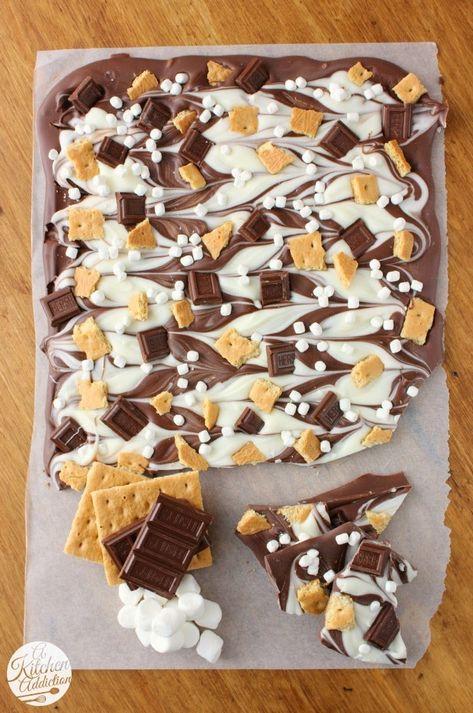 Triple Chocolate S'mores Bark recipe