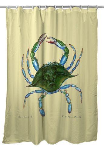 Female Blue Crab Shower Curtain Curtains Nautical Gifts Blue