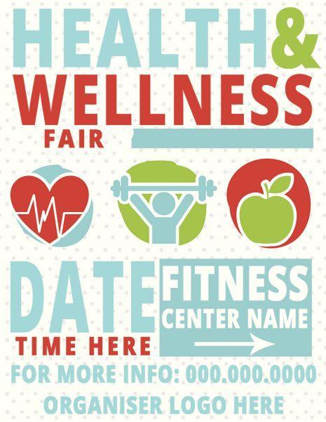 Health Fair Flyer 18 Customizable Design And Colorful Illustrated Templates Template Sumo Health Fair Health Flyer