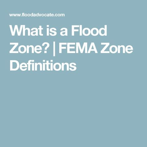 What Is A Flood Zone Flood Zone Definitions Flood