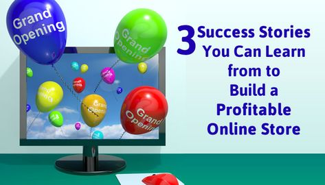 3 Success Stories You Can Learn from to Build a Profitable Online Store