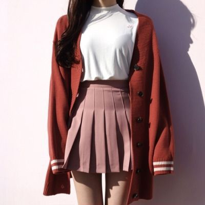 Style skirt outfits like you would be comfortable wearing it ski… Korean fashion. Design rock outfits as if you were wearing them comfortably.