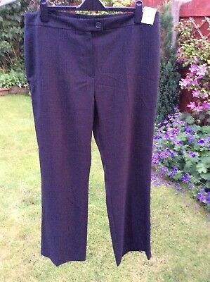 M/&S Collection Size 18 Short Striped Wide High Rise Trousers Bnwt Ivory//Black