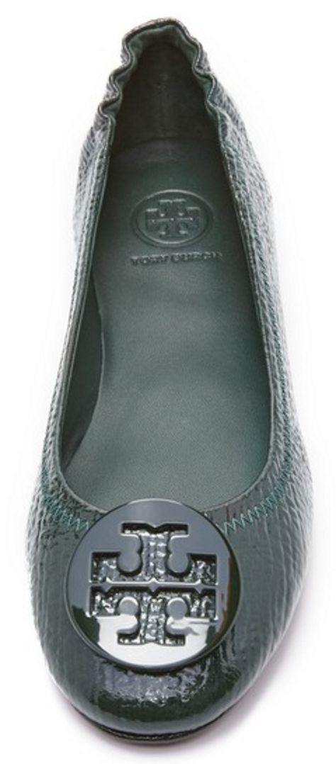 Tory Burch Minnie Travel Ballet Flats - Royal Navy