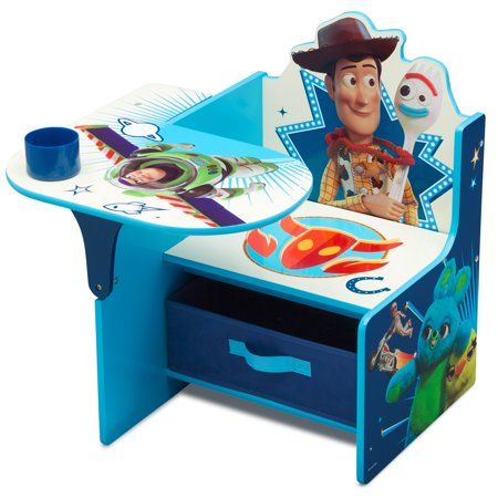 Disney Pixar Toy Story 4 Chair Desk With Storage Bin By Delta Children Walmart Com In 2020 Toy Story Room Toy Story Bedroom Kids Chairs