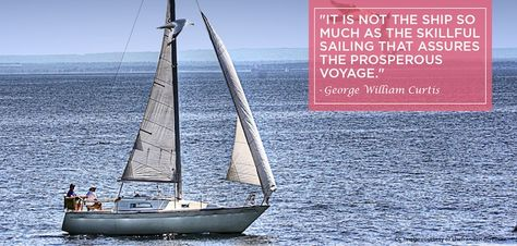 It is not the ship so much as the skillful sailing that assures the prosperous voyage - George William Curtis