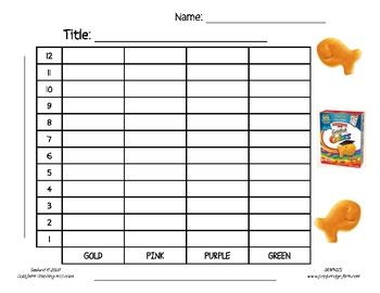 Spin  Graph Halloween Style Bar Graph Tally Chart Line Plot