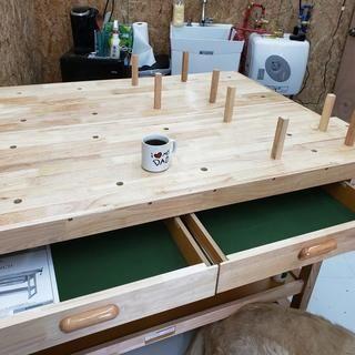 60 In 4 Drawer Hardwood Workbench In 2020 Workbench Designs Woodworking Table Workbench