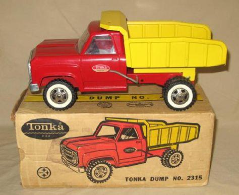 1960s Tonka Red Yellow Dump Truck 2315 W Original Box