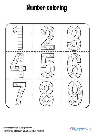 ระบายส ตกแต งลวดลายเลข 1 9 ให สวยงามตามจ นตนาการ เร มต นความสน กด วยการ ระบายส ต วเลขท งหลายพร อมภาพประกอบท สวยงาม ด วยร ปแบบก จกรรมแบบฝ กห ดท สน กสนานช ภาพ