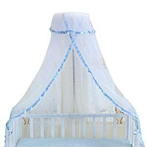 Baby Crib Canopy Dome Mosquito Netting Kids Round Hanging Curtain Cute Baby Mosquito Net Nursery Toddler Bed Crib Canopy Netting Blue Crib Bedding Crib Bedd Baby Crib Canopy Crib