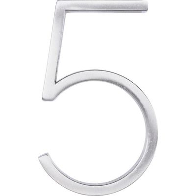 House Numbers At Lowes Com Search Results In 2020 Floating House House Numbers Brushed Nickel