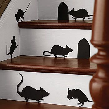 Our Mice Silhouettes Have The Look Of Real Mice Who Can Climb Up Diy Halloween Decorations Halloween Silhouettes Martha Stewart Halloween Decorations