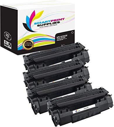 Smart Print Supplies 53x High Yield Compatible Replacement Toner Cartridge 4 Pack Corresponding Oem Number Q7553x Toner Cartridges