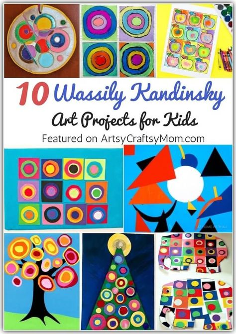 Kandinsky was an artist who combined colors, melodies and philosophy. Get inspired from this great artist with some Wassily Kandinsky art projects for kids. for kids 10 Wassily Kandinsky Art Projects for Kids Wassily Kandinsky, Kandinsky For Kids, Art Doodle, Artist Project, Art Classroom, Classroom Art Projects, Art History Projects For Kids, Class Art Projects, Preschool Art Projects