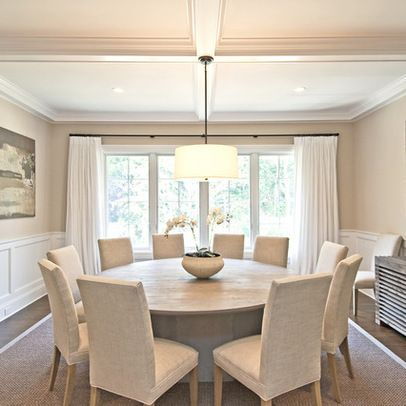Because I Love A Round Dinning Table For Conversation This One Actually Seats 10 Chairtabl Round Dining Room Table Round Dining Room Sets Round Dining Room