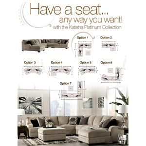 Signature Design by Ashley Katisha - Platinum 2-Piece Sectional with Left Chaise - Gardiner Wolf Furniture - Sofa Sectional | Home decor | Pinterest ...  sc 1 st  Pinterest : katisha sectional ashley - Sectionals, Sofas & Couches