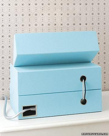 Create your own charging station that is functional and stylish.