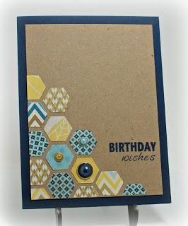 Hexagon birthday card