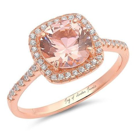 7x7mm Round Cut CZ Center Set in Rose Gold IP Stainless Steel Women/'s Ring